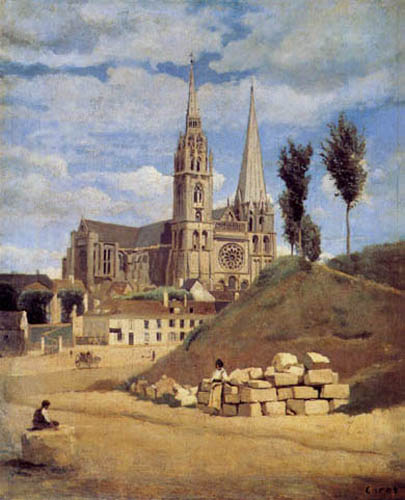 Jean-Baptiste Corot - Cathedral of Chartres