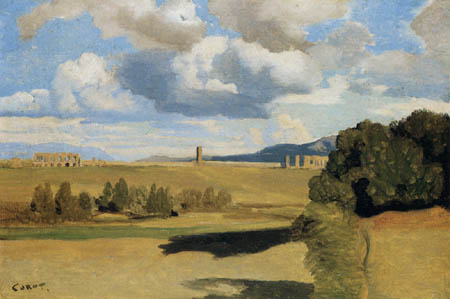 Jean-Baptiste Corot - Ruinen in römischer Landschaft