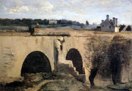 Jean-Baptiste Corot - Limay Brücke und das Chateau des Celestins