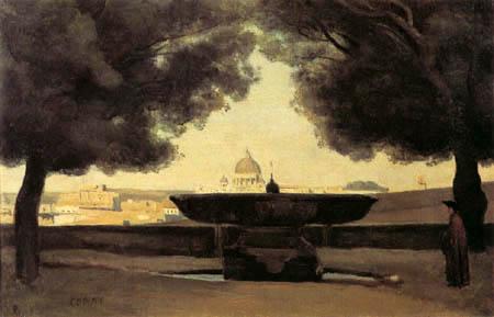 Jean-Baptiste Corot - Pozo en Roma