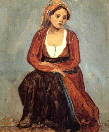Jean-Baptiste Corot - Sitzende Italienerin
