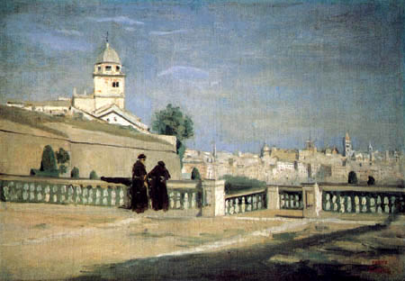Jean-Baptiste Corot - Blick von der Terrasse des Palazzo Doria