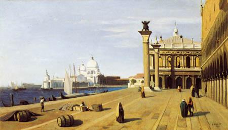 Jean-Baptiste Corot - Riva degli Schiavoni, Venedig