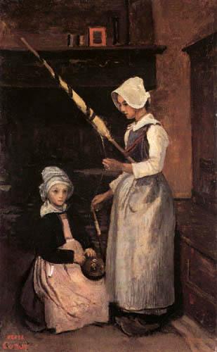 Jean-Baptiste Corot - Bäuerinnen aus der Bretagne