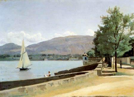 Jean-Baptiste Corot - Der Quai des Pâquis in Genf
