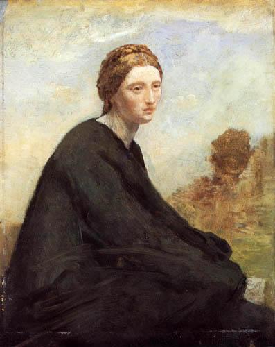 Jean-Baptiste Corot - Sinnendes Mädchen