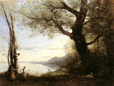 Jean-Baptiste Corot - The bird's nest robber