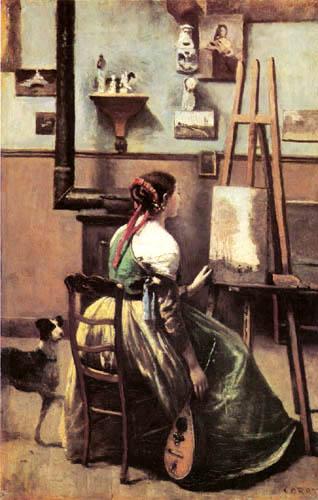 Jean-Baptiste Corot - Im Atelier von Corot