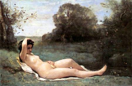 Jean-Baptiste Corot - Femme Nue allonge