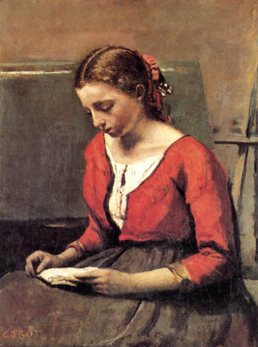 Jean-Baptiste Corot - Lesendes Mädchen