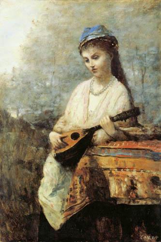 Jean-Baptiste Corot - Mädchen mit Mandoline