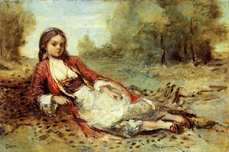Jean-Baptiste Corot - Young Algerian woman