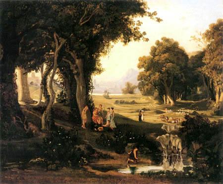 Jean-Baptiste Corot - Orpheus bezaubert die Menschen
