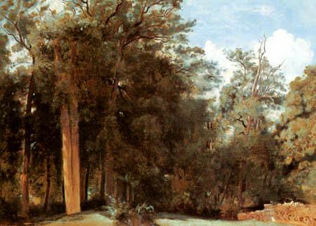 Jean-Baptiste Corot - Lichtung im Wald von Fontainebleau