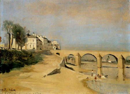 Jean-Baptiste Corot - El cauce con puente