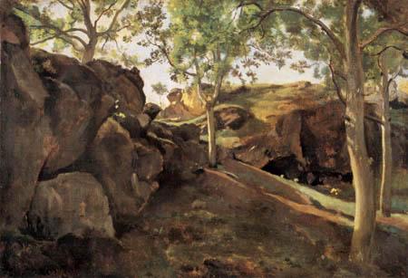 Jean-Baptiste Corot - Bosquet de châtaignier