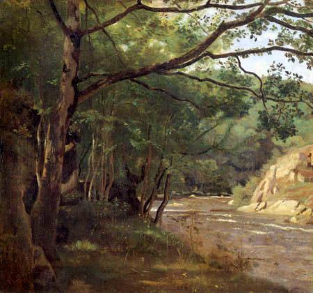 Jean-Baptiste Corot - A brook in Morvan, Lormes