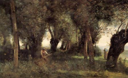 Jean-Baptiste Corot - Schnitter in einem Wäldchen