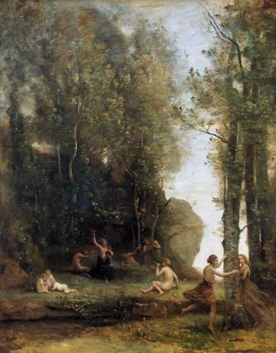 Jean-Baptiste Corot - Versteckspiel im Wald
