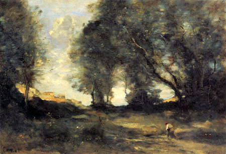 Jean-Baptiste Corot - Waldlandschaft