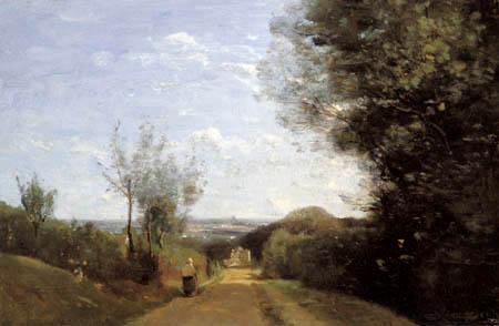 Jean-Baptiste Corot - Landstraße bei Sevres-Brimborion