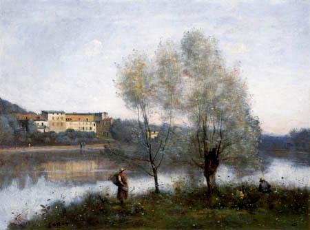 Jean-Baptiste Corot - Am Teich von Ville Ávray