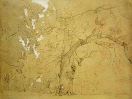 Jean-Baptiste Corot - Junger Mann unter einer Eiche