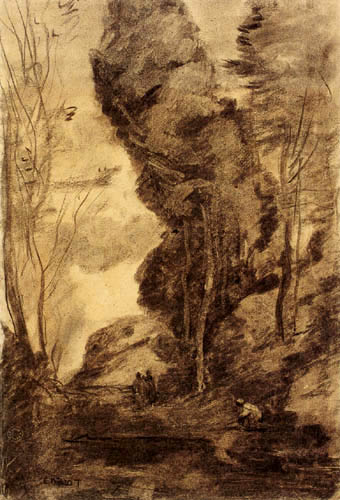 Jean-Baptiste Corot - Wooded valley