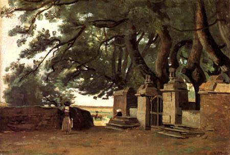 Jean-Baptiste Corot - Entrada de un castillo