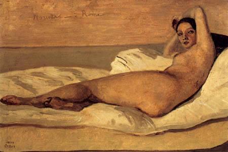 Jean-Baptiste Corot - Marietta, une romain Odalisque