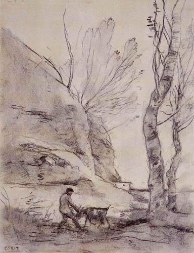 Jean-Baptiste Corot - Shepherd with goat