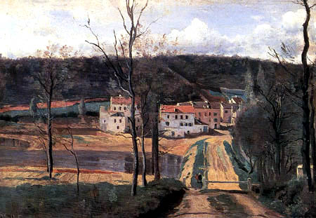 Jean-Baptiste Corot - Die Häuser von Cabbasud