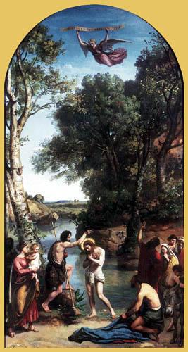 Jean-Baptiste Corot - Die Taufe Christi