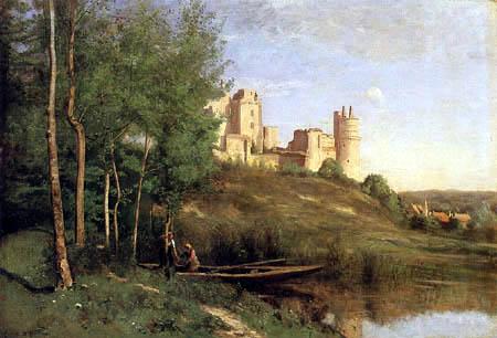 Jean-Baptiste Corot - Ruine des Schloßes von Pierrefonds