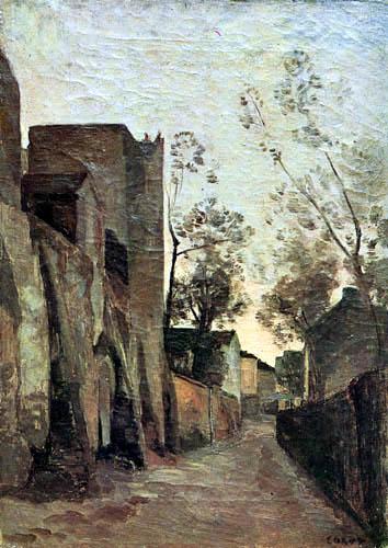 Jean-Baptiste Corot - Rue Saint-Vincent