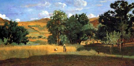 Jean-Baptiste Corot - Champ de maïs dans le Morvan