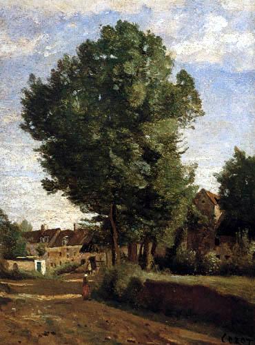 Jean-Baptiste Corot - Entrada de la aldea cerca de Beauvais, Coubron