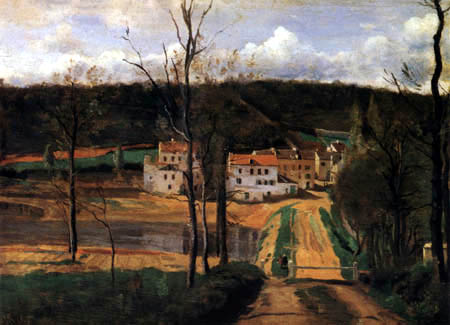 Jean-Baptiste Corot -  The houses of Cabassud, Ville d'Avray
