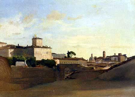 Jean-Baptiste Corot - Blick auf Pincio, Italien