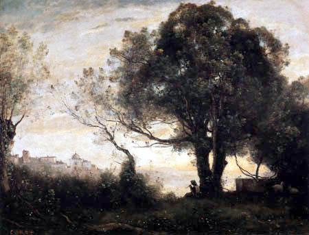 Jean-Baptiste Corot - Memory of Castel Gandolfo