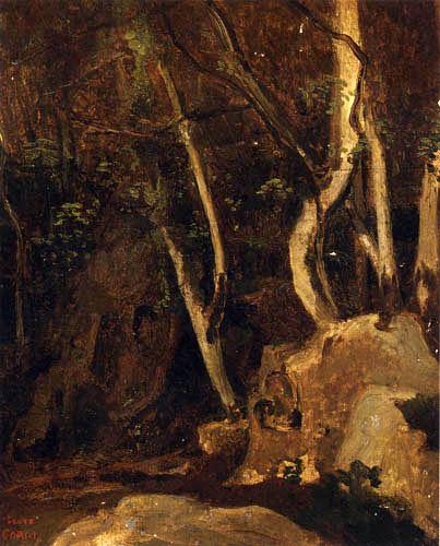 Jean-Baptiste Corot - Civita Castellana, rocas boscosas