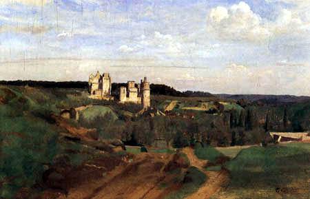 Jean-Baptiste Corot - Das Schloß von Pierrefonds