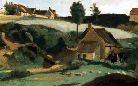 Jean-Baptiste Corot - Morvan, petit moulin