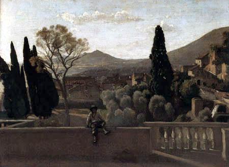 Jean-Baptiste Corot - Tivoli, les jardins de la Villa D'Este