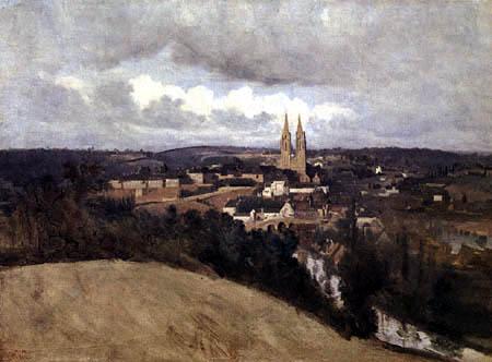 Jean-Baptiste Corot - Blick auf Saint-Lô