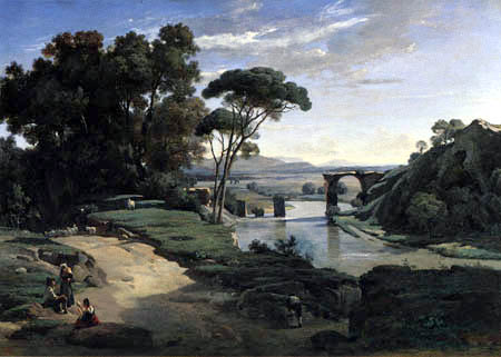 Jean-Baptiste Corot - The Bridge of Narni
