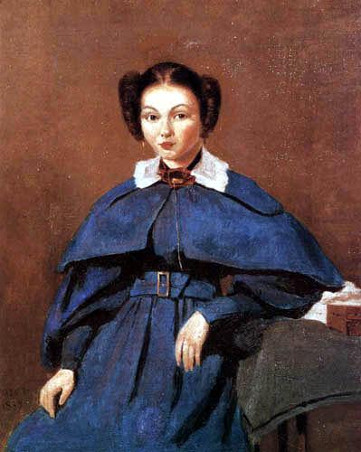 Jean-Baptiste Corot - Porträt der Mme. Baujot