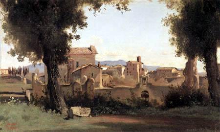 Jean-Baptiste Corot - Vue depuis les jardins Farnèse, Rome