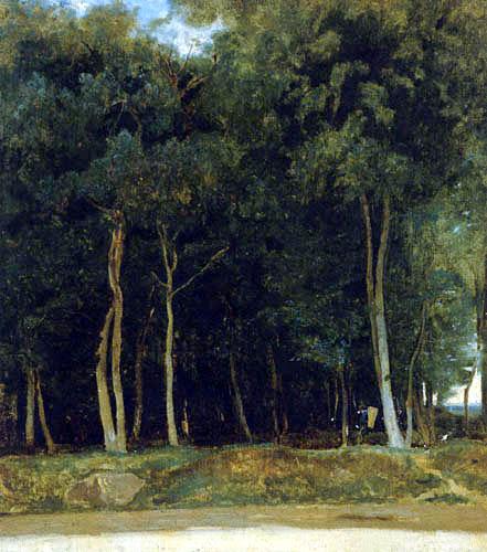 Jean-Baptiste Corot - Fontainebleau, Route du Bras Bréau