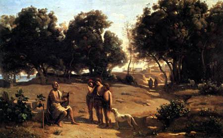 Jean-Baptiste Corot - Homère et les Bergers